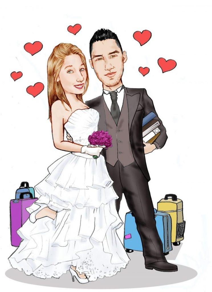 kartun pernikahan png