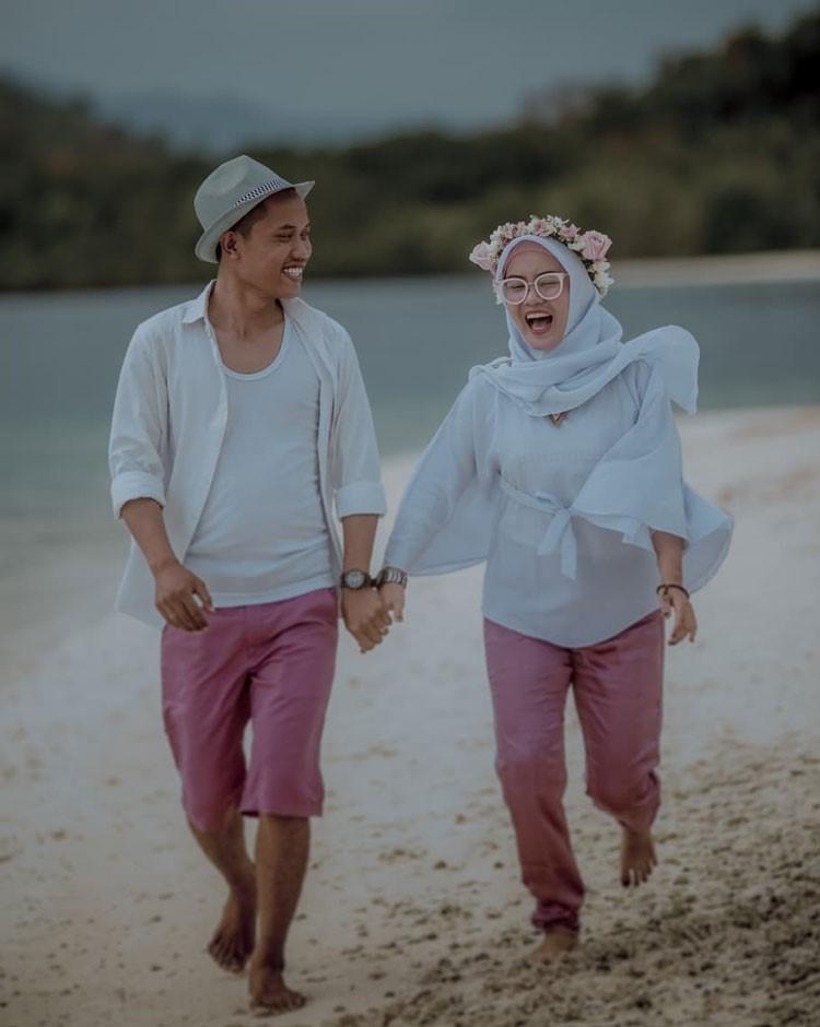 prewedding hijab sporty