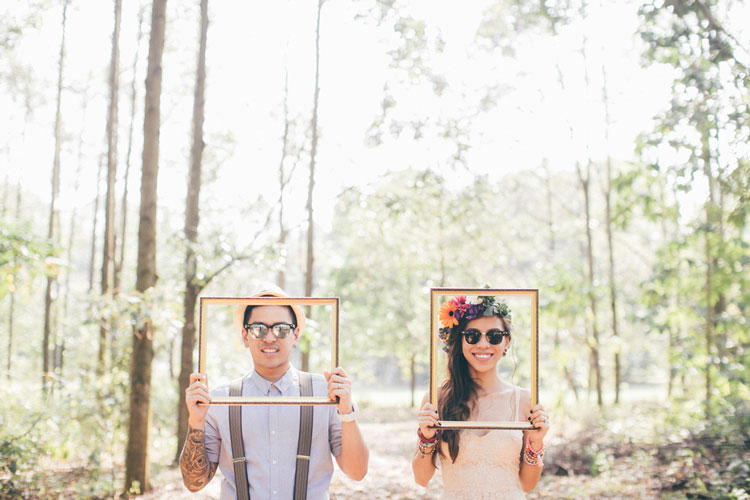 konsep prewedding bohemian simple