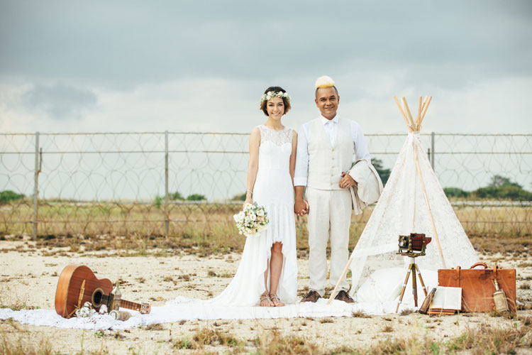 konsep prewedding outdoor bohemian