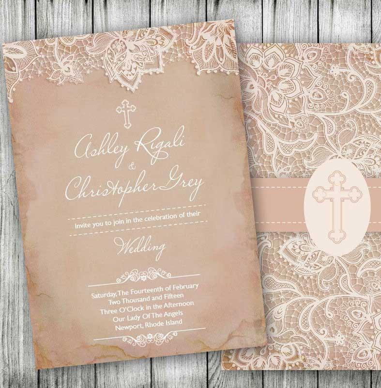 15 Contoh Undangan Pernikahan Kristen Katolik Protestan